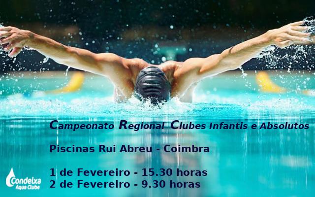 Campeonato Regional Clubes Infantis e Absolutos @ Piscinas Rui Abreu - Coimbra